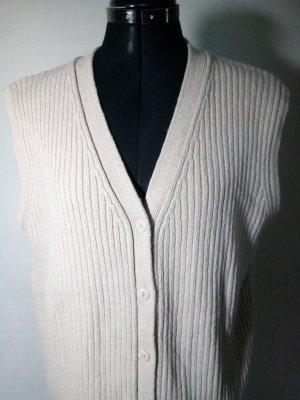 Long Knitted Vest beige