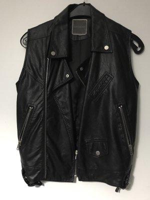 Leather Vest black polyester