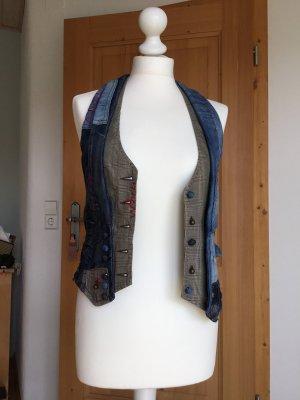 Desigual Denim Vest multicolored