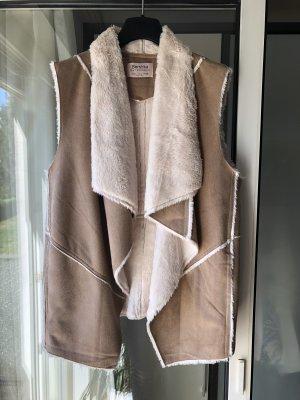 Bershka Vest beige-wolwit