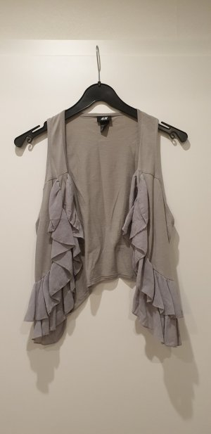 H&M Fringed Vest light grey