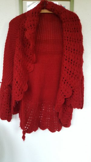 Knitted Vest brick red cotton