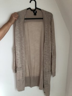 H&M Long Knitted Vest oatmeal