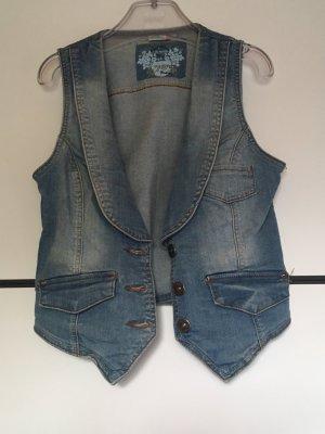 Denim Vest cornflower blue