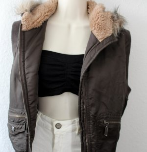 Madonna Hooded Vest khaki