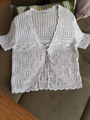 Gilet tricoté blanc