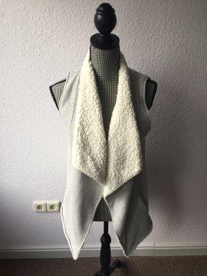 Review Fake Fur Vest light grey-white