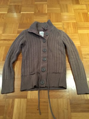 H&M Long Knitted Vest light brown