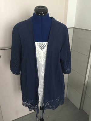 Livre Long Knitted Vest blue