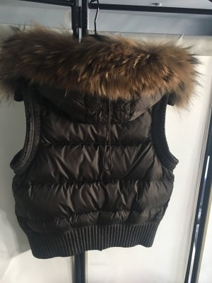 Parajumpers Fur vest dark brown