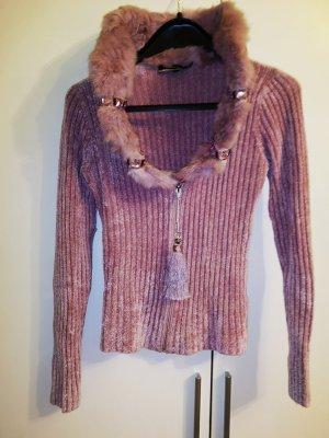 Knitted Vest dusky pink mixture fibre