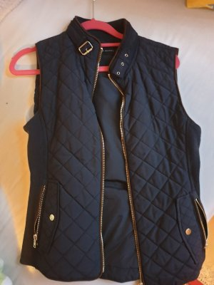 Zara Quilted Gilet dark blue
