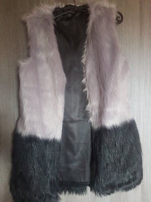 & other stories Fake Fur Vest black-grey