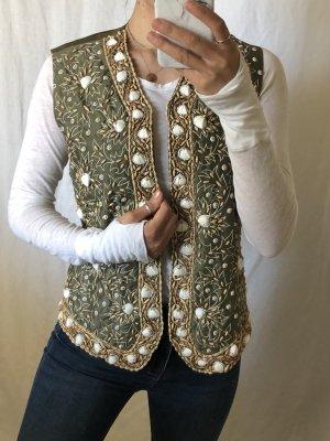 Prestige Elegance Veste à franges multicolore