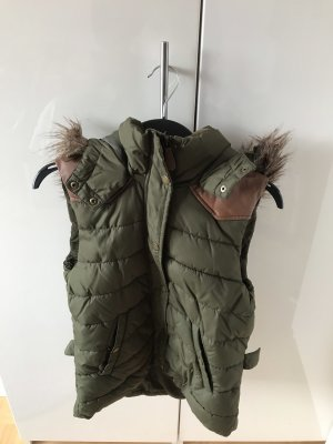 H&M Hooded Vest dark green