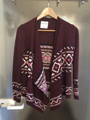 Abercrombie & Fitch Knitted Wrap Cardigan bordeaux