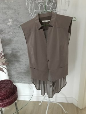 Apriori Reversible Vest green grey mixture fibre