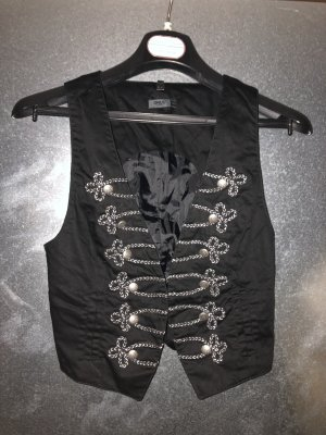Only Knitted Vest black-silver-colored