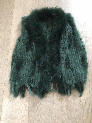 Smanicato di pelliccia verde bosco