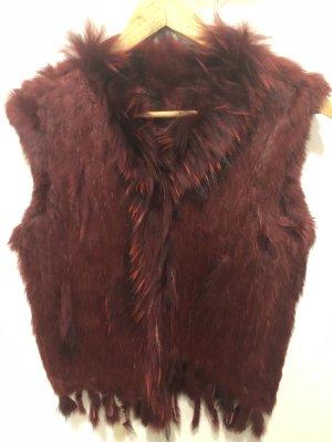 Fur Jacket bordeaux