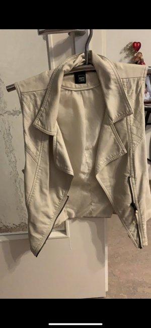 Pimkie Leather Vest cream