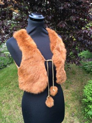 Fur vest multicolored