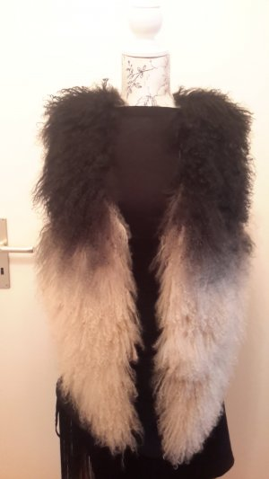 Topshop Bontgilet taupe-room Vacht