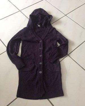 Mango Casual Sportswear Long Knitted Vest dark violet