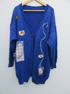 Weste blau Tracht handmade Vintage Retro Gr. 48/50 oversize