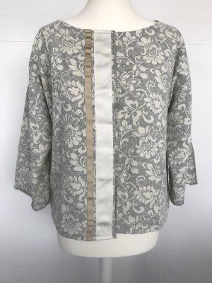 Gilet tricoté blanc-gris clair