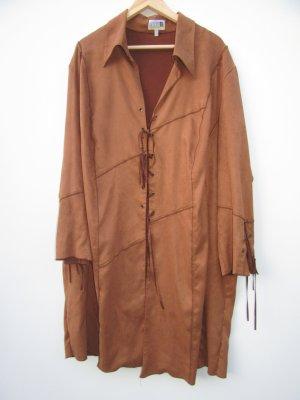 Vintage Chaleco con flecos marrón