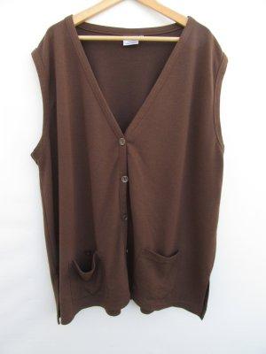 Vintage Cardigan lungo smanicato marrone