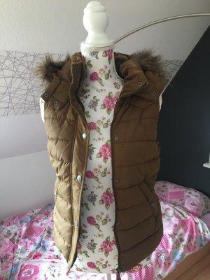 H&M Giacca di pelliccia marrone chiaro-bronzo