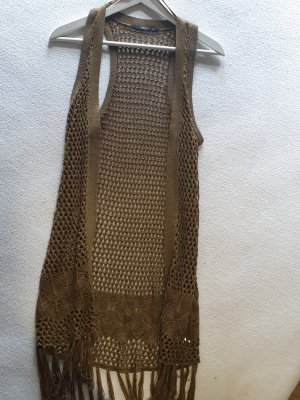Only Long Knitted Vest ocher