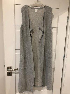 QS by s.Oliver Fleece Vest grey-light grey