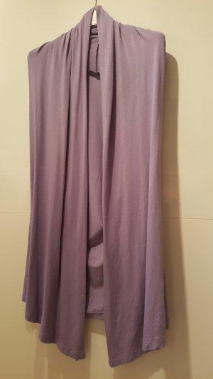 Long Knitted Vest purple