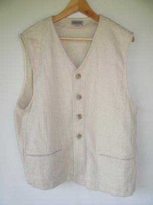 Cecil Gilet tricoté brun sable-blanc