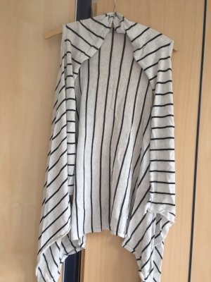 Long Knitted Vest white-grey