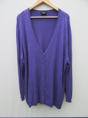Vintage Chaleco de punto largo lila
