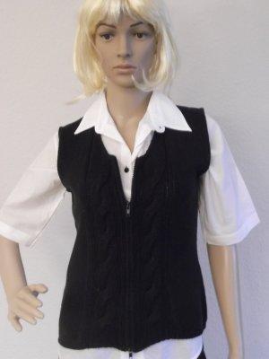 Lecomte Gilet tricoté noir