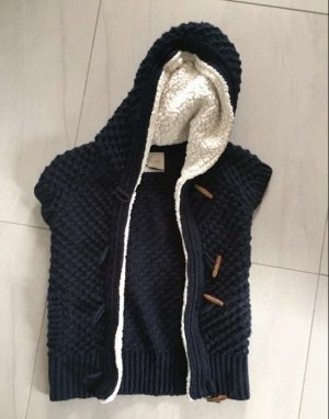 Only Chaleco con capucha blanco-azul oscuro