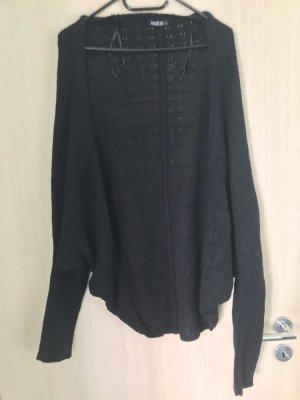 Gilet tricoté gris-noir