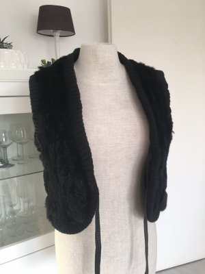 Margit brandt Fur vest black