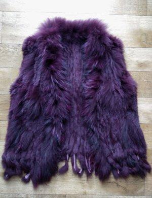 Chaleco de piel púrpura-violeta amarronado Pelaje