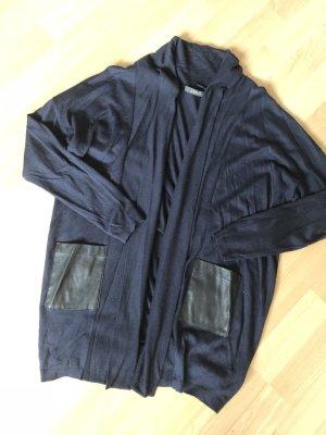 Esprit Smanicato lavorato a maglia blu scuro-nero