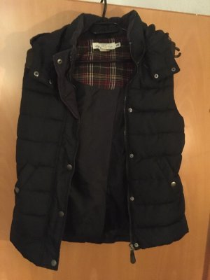 H&M L.O.G.G. Quilted Gilet dark blue-brown red