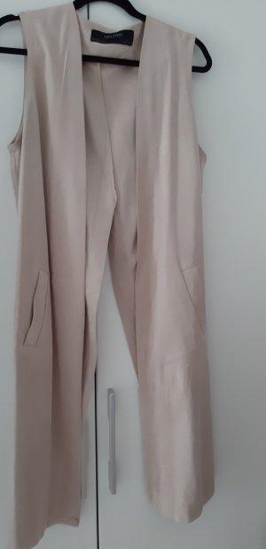 Zara Woman Leren vest roségoud