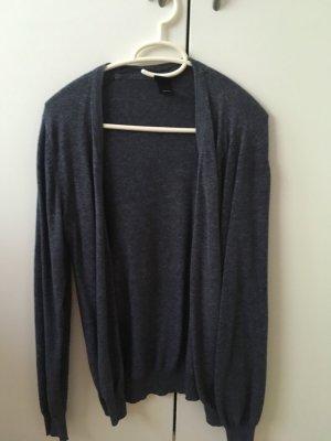 H&M Gilet tricoté gris ardoise