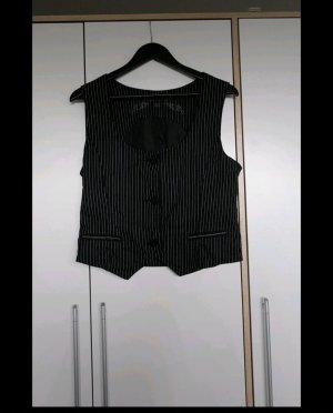 Amisu Gilet de costume noir