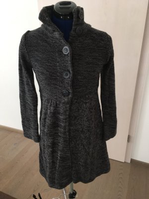 Zero Long Knitted Vest black-grey